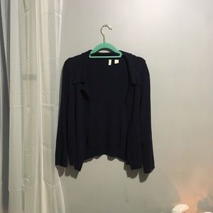 Anthropologie Moth Navy Crop Cardigan